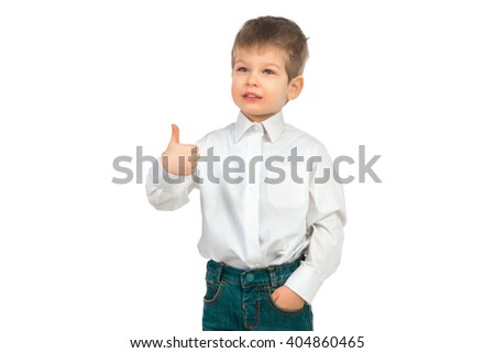 Small guy in shirt and jeans