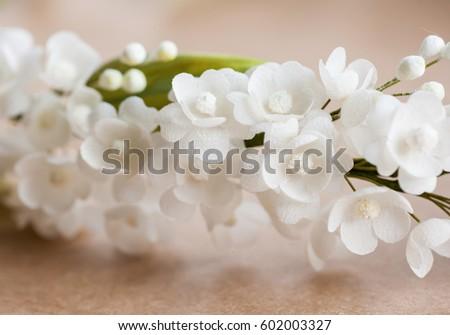 Small handmade white silk flowers stock photo royalty free small handmade white silk flowers mightylinksfo