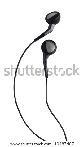 small headphones on a white background