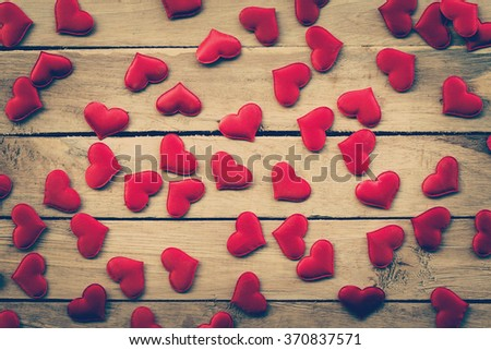 small heart on wood for valentine background
