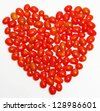 Small heart shaped tomatoes vegetables. - stock photo