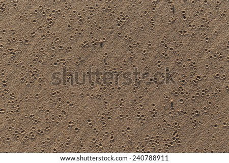 Small Holes in Sand Background - stock photo
