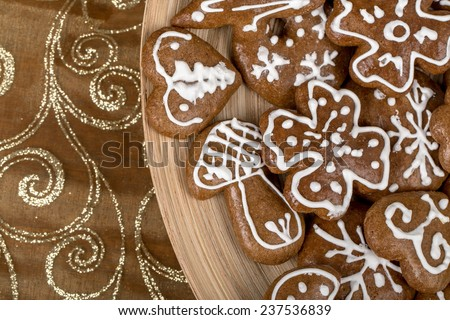small home made christmas cakes close up - stock photo