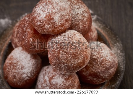 Small homemade doughnuts - stock photo