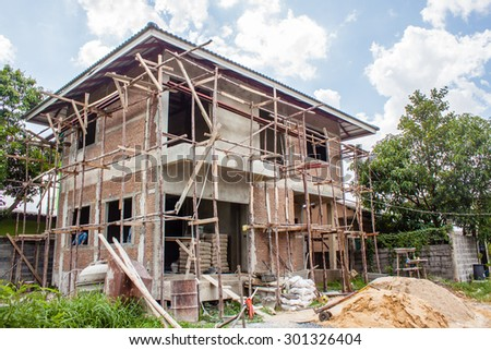 Small House Building Under Construction Stock Photo Royalty Free