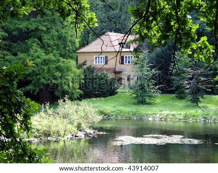 Small house hidden in verdure