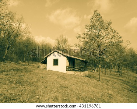 Small house in the mountains of Serbia
