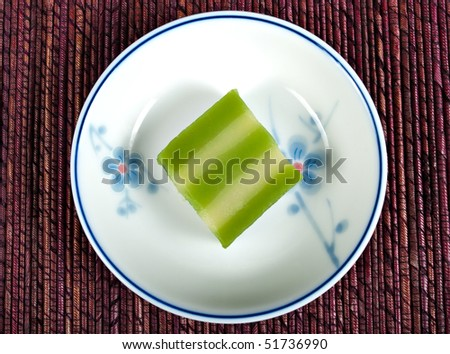 Small Indonesian dessert on a small serving dish. - stock photo