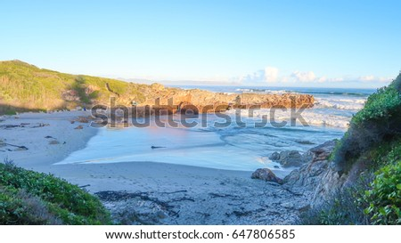 Small Inlet Beach in Hermanus, South Africa