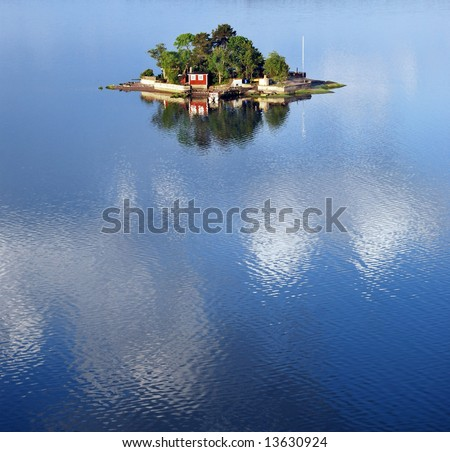 Small island in the swedish archipelago