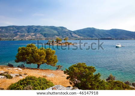 Small island near Poros, Greece