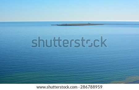 Small island outside of Gotland in Sweden - stock photo