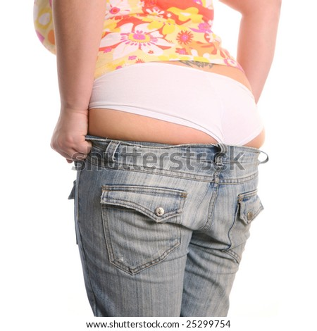 small jeans - stock photo
