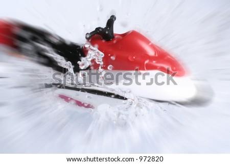 small jetski - stock photo