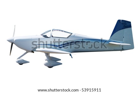 Small Kit Set Aircraft isolated with clipping path - stock photo