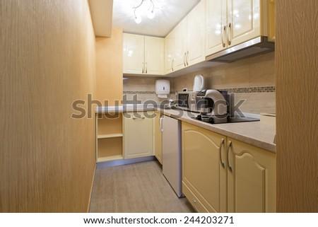 Small kitchen interior - stock photo