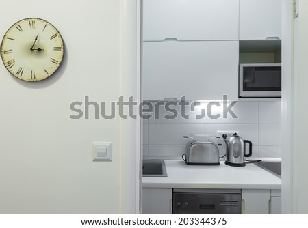 Small kitchenette in a studio - stock photo