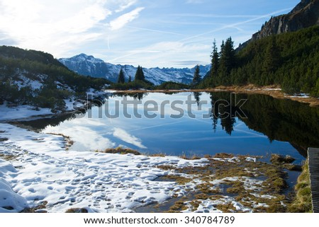 Small lake in austrian alps
