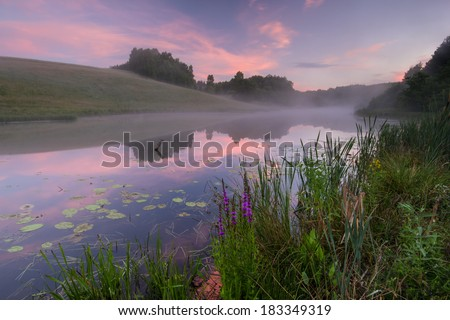 Small lake somewhere in northern Poland. / Lake - stock photo