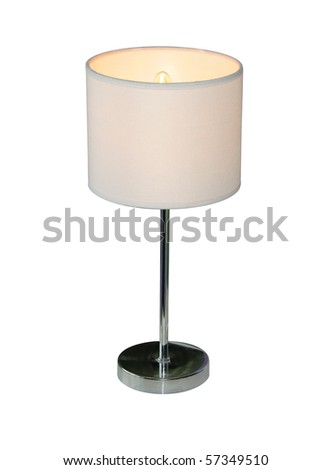 Small lamp, isolated on a pure white background - stock photo