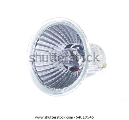 Small light on a white background. - stock photo