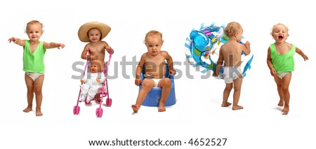 Small Little Girl - toddler - stock photo