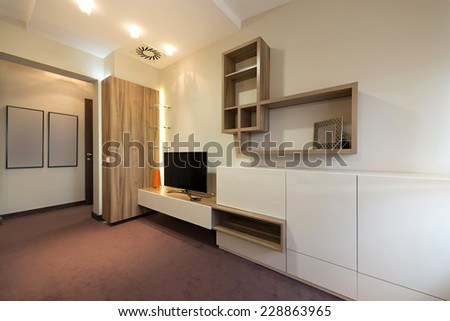 Small living room interior - stock photo