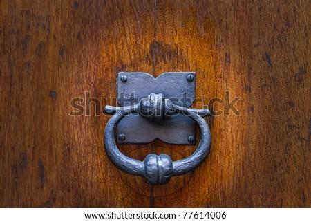small metal knocker - stock photo