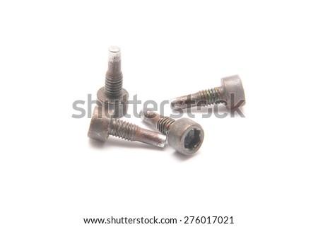small metal pins   - stock photo