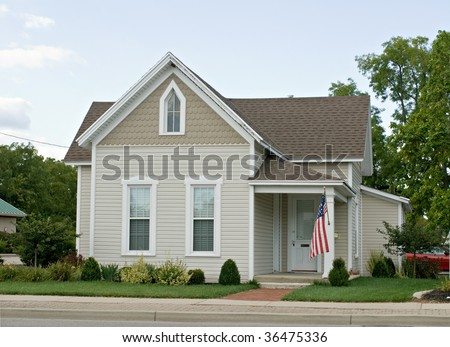 Small Mid-west House - stock photo