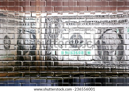 small money bills for current payment of the services - stock photo