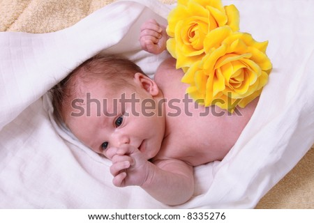 small newborn - stock photo