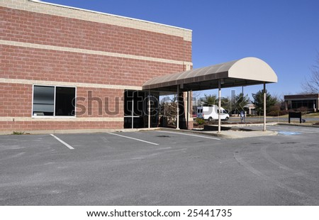 small office building in a business park - stock photo
