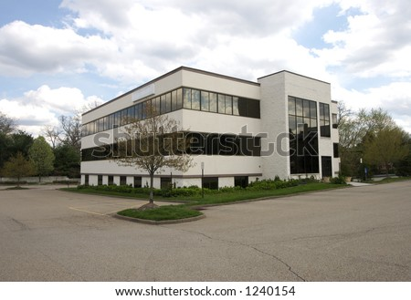 Small Office Building in the Suburbs - stock photo