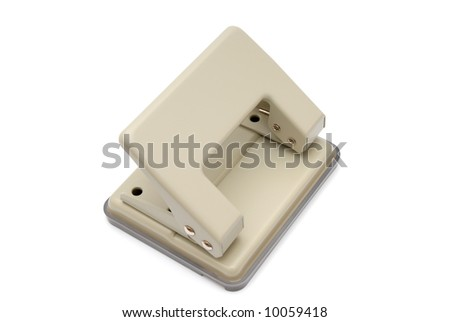 Small office puncher on a white background