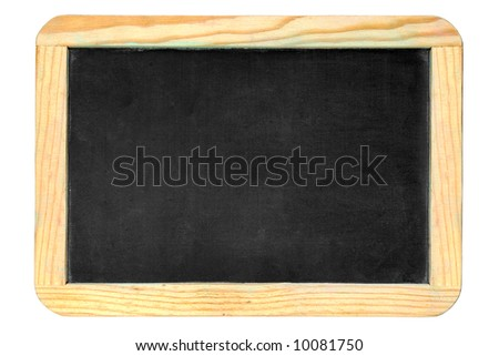 Small old chalkboard isolated over white background - stock photo