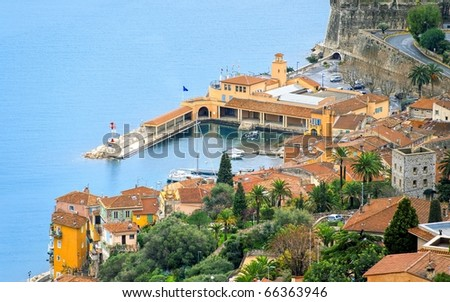 Small old port on french Riviera - stock photo