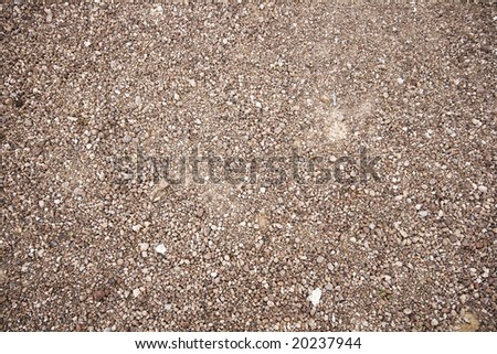 Small oval white stones on the seashore - stock photo