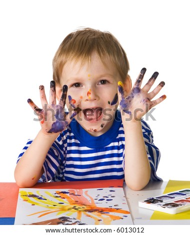 Small painter - stock photo