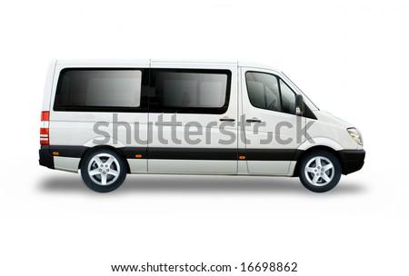 Small passenger van - stock photo