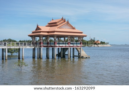 Small pavilion on the water