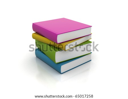 Small pile of colorful books