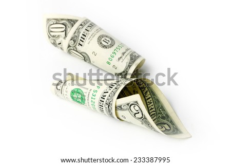 small pile of fine paper money dollars