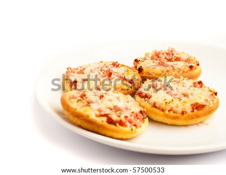 small pizzas - stock photo