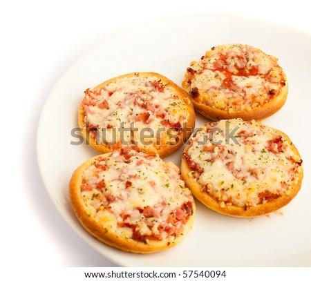 small pizzas - stock photo