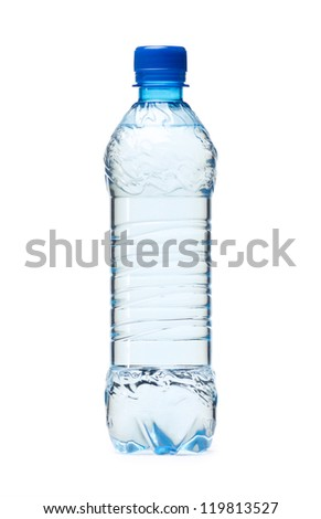 Small plastic water bottle