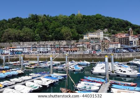 small port in San Sebastian - stock photo
