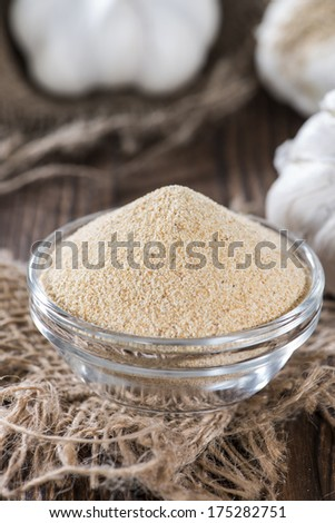 Small portion of Garlic Spice (close-up shot)