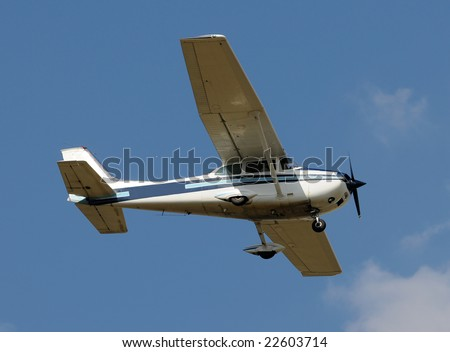 Small private airplane for recreation use - stock photo