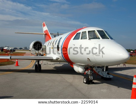 Small private charter jet airplane - stock photo